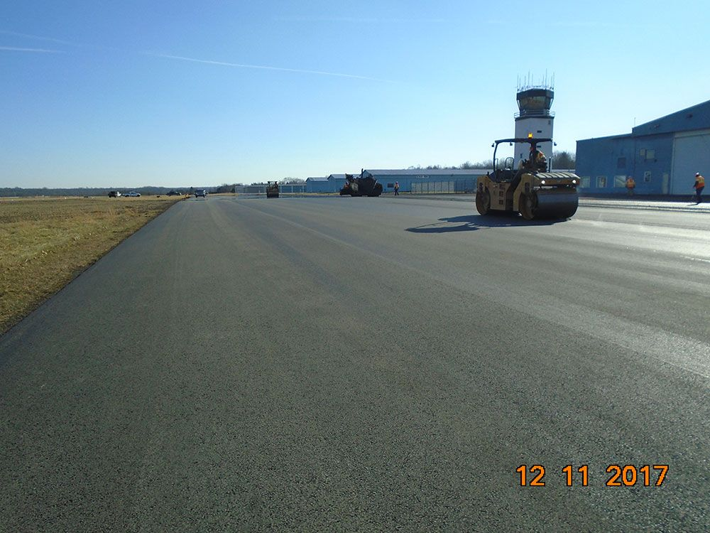 Paving in front of Westside Aviation.